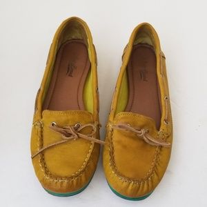 Lucky Brand Mustard yellow Slip-On leather loafer